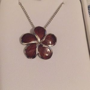 Na Hoku Hawaiian Plumeria Jewelry Koa Necklace